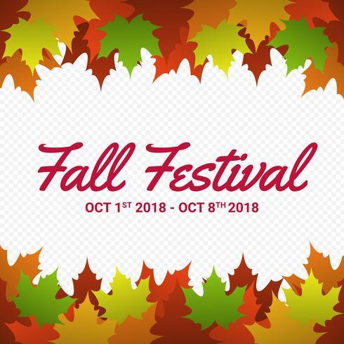 Fundo de quadro sazonal de outono folhas de outono vetor