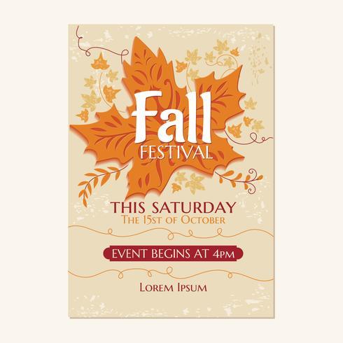Festival de otoño o invitación de fiesta de otoño