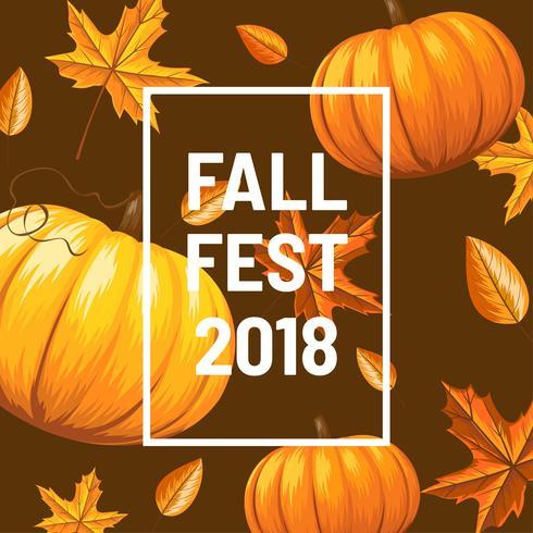 Fall Fest Achtergrond Vector