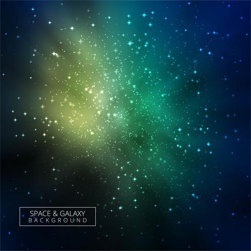 Abstrait coloré galaxie brillante