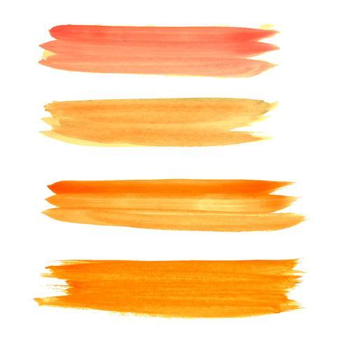 Abstracte heldere aquarel lijnen instellen vector