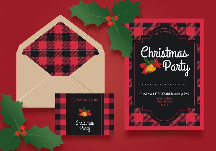 Kerst partij uitnodiging sjabloon Vector