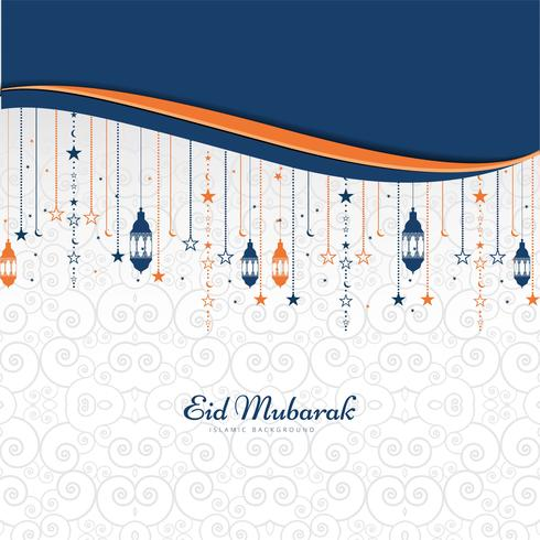 Elegante Eid Mubarak-festival achtergrondvector