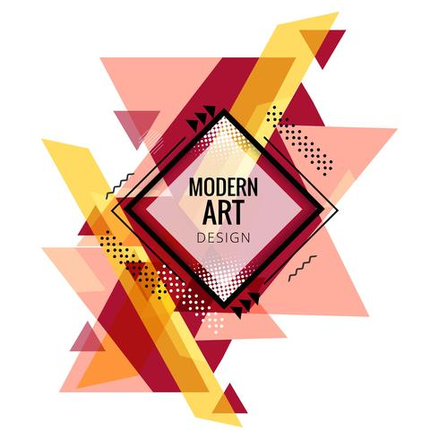 Modern colorful triangle shape design vector