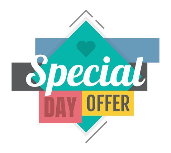 Oferta especial vector