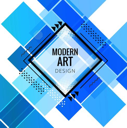 Vetor de fundo geométrico azul moderno
