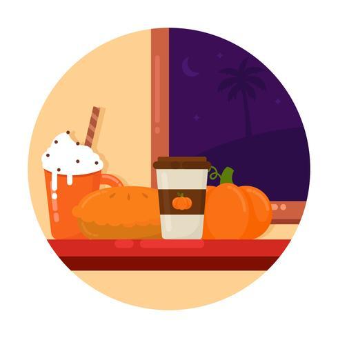 Pompoen Spice vectorillustratie