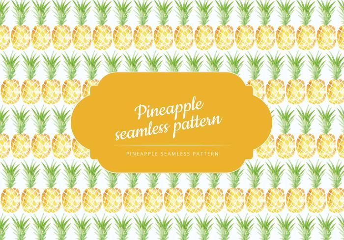 vektor handgjord ananas mönster