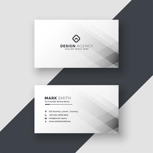 design de cartão branco abstrato