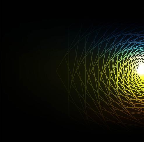 Mooie elegante kleurrijke swirl lijnen achtergrond