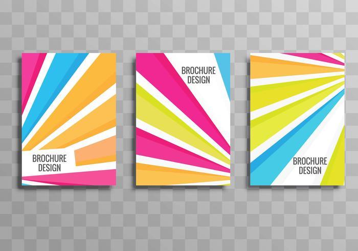 Brochura de negócios colorido abstrato conjunto vector