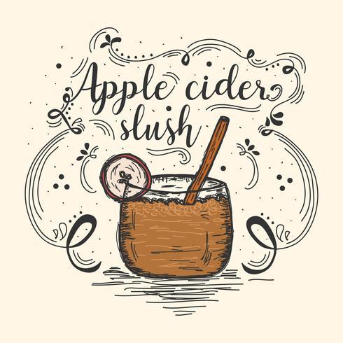 Apple Cider Slush Vector