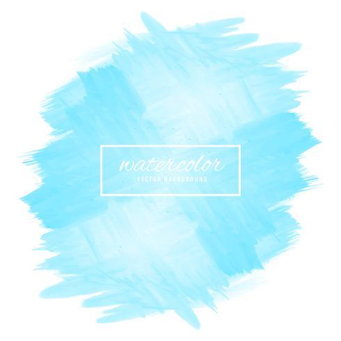 Ilustração abstrata design aquarela azul