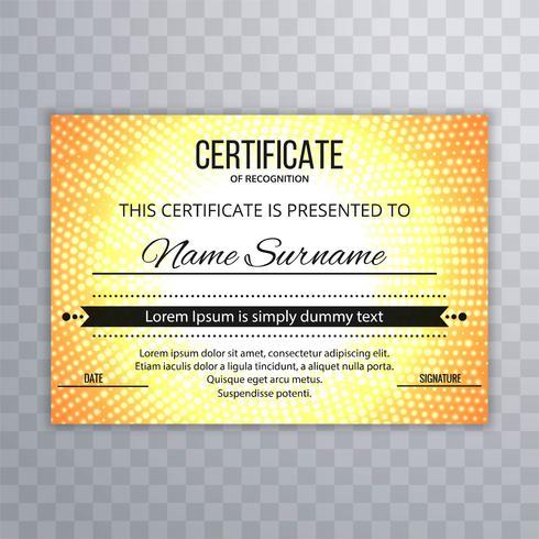 Fundo abstrato modelo de certificado