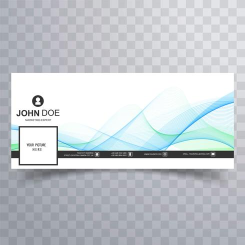 Elegant wave facebook timeline banner design vector