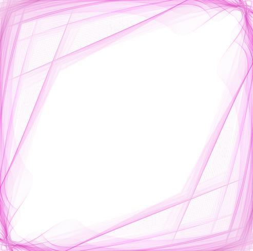 Fundo de onda abstrata linha-de-rosa