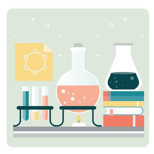 Acessórios de escola química de vetor