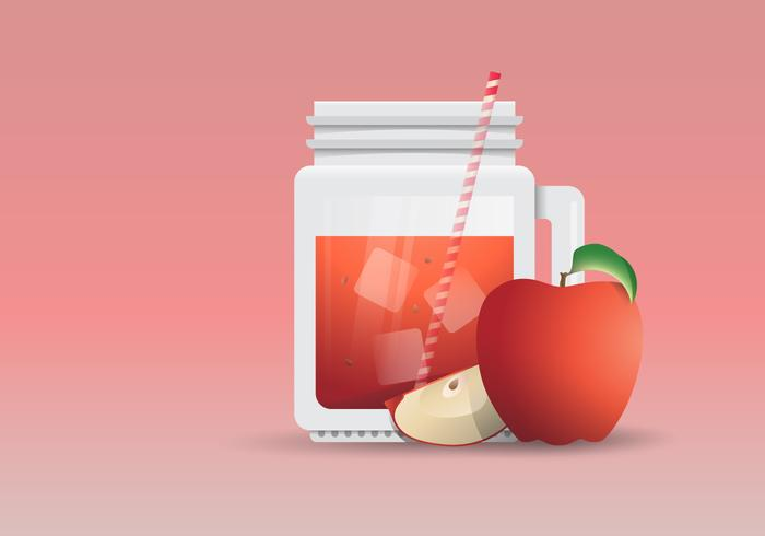 Apple Cider Slush Refreshing Energy Drink Illustration vector