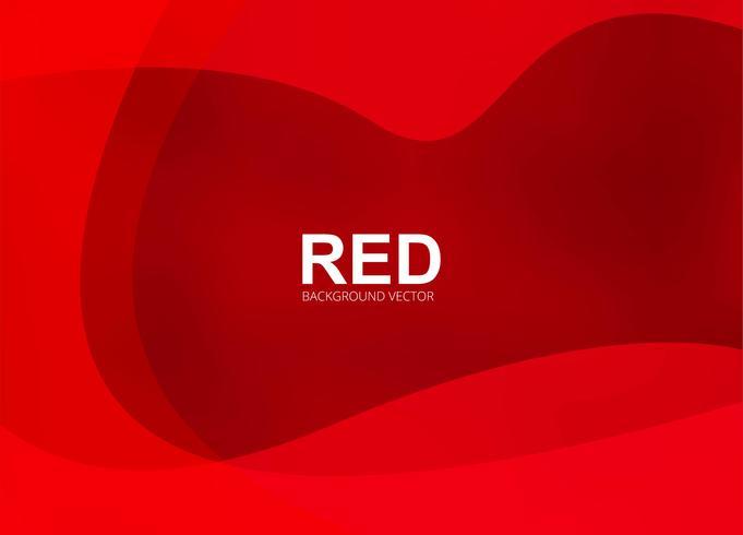 Fundo criativo ondulado vermelho elegante vetor