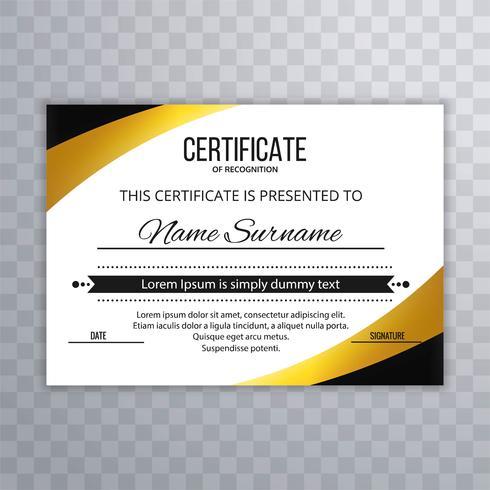 Moderna certifikatmall bakgrundsdesign vektor