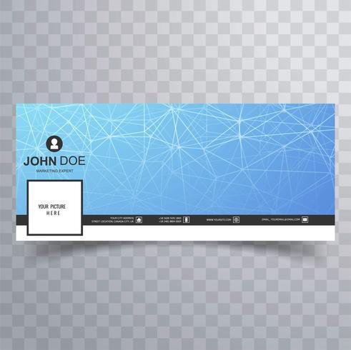 Facebook moderno timeline banner tecnología diseño