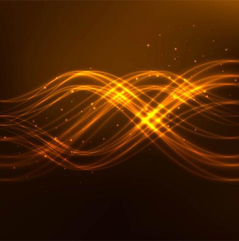 Fundo de onda brilhante brilhante abstrato