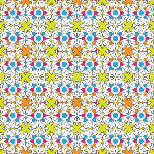 Abstracte kleurrijke bloemenpatroonontwerpillustratie