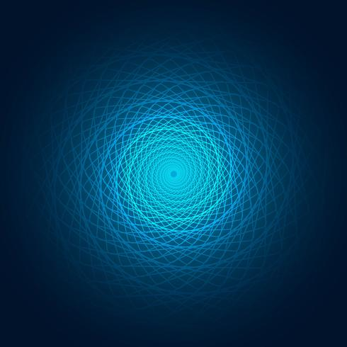 Abstract blue swirl lines background illustration