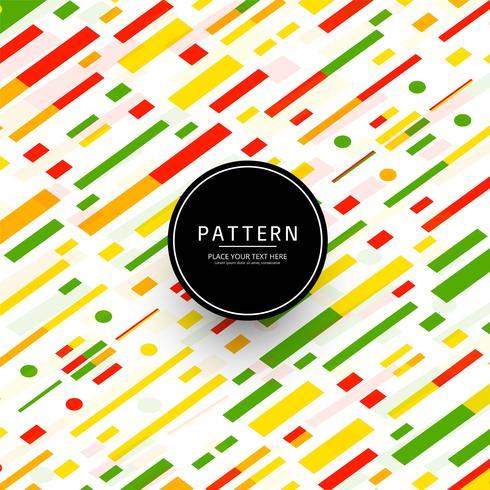 Vetor de fundo lindo padrão colorido