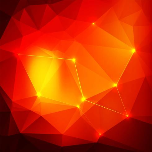 Abstract shiny red polygon background