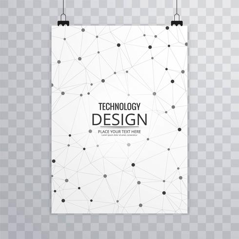 Abstract technology business brochure template