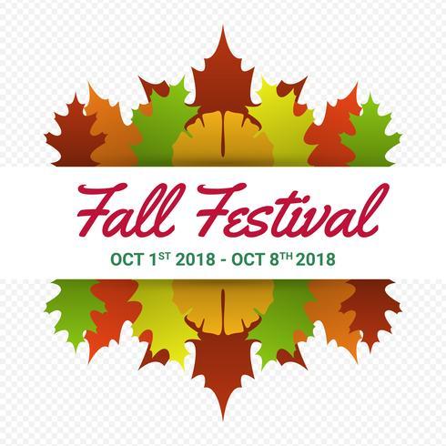 Modelo de Cartaz - festival de outono moderno minimalista vetor