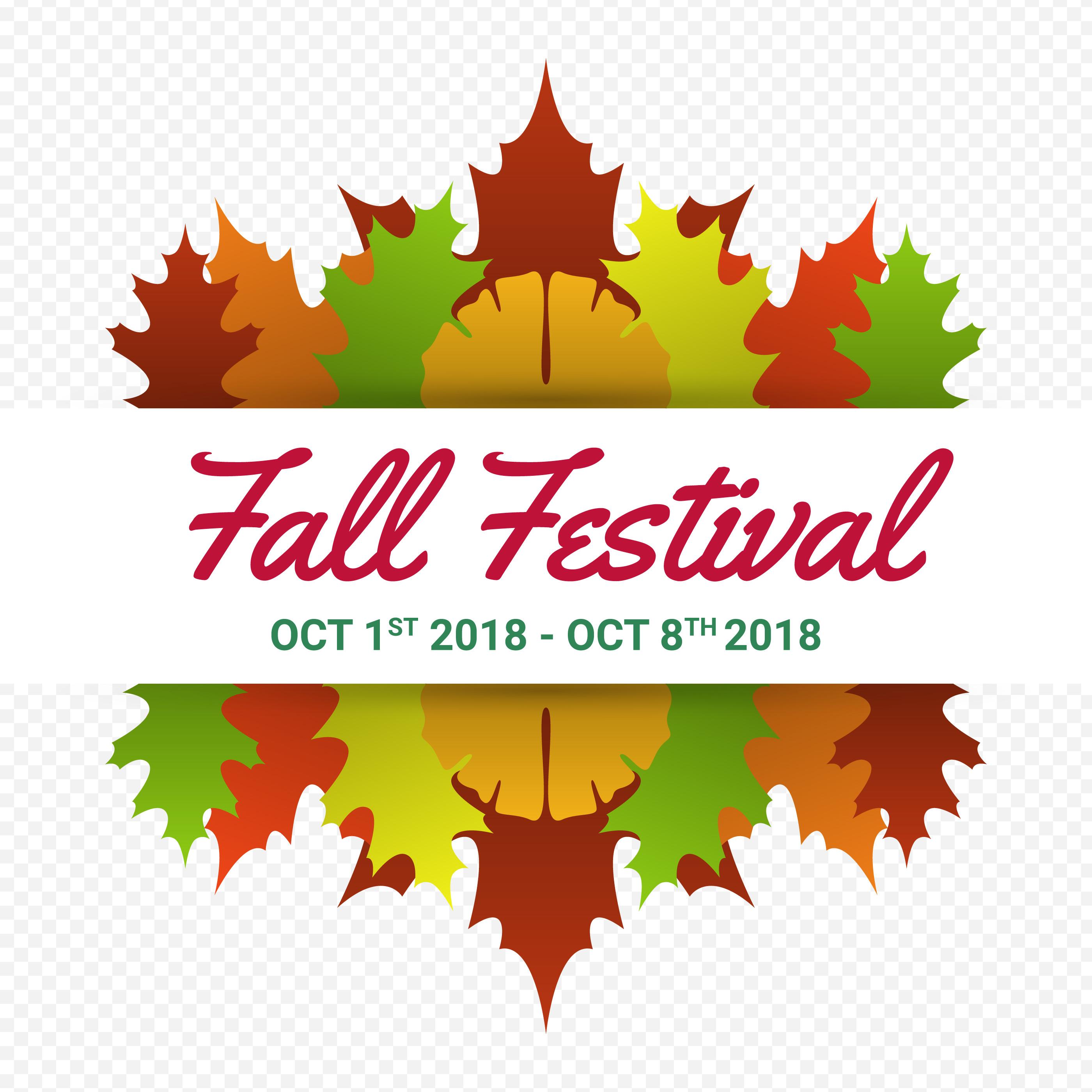 Fall Festival Modern Minimalist Vector Poster Template