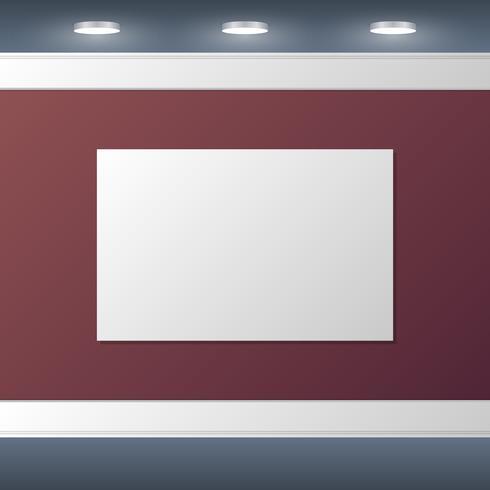 Poster em branco Mock Up Design de interiores ilustração fundo