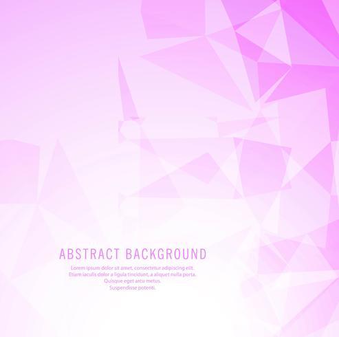 Fundo geométrico abstrato rosa poligonal