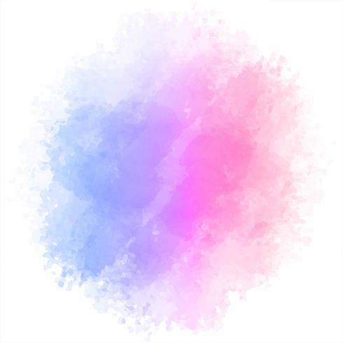 Vetor de fundo aquarela colorido bonito