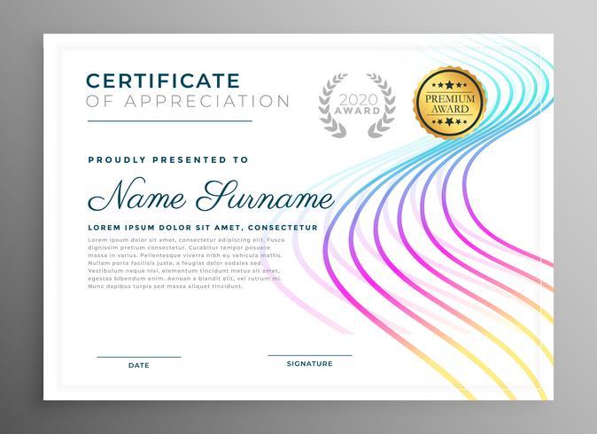 projeto de modelo de certificado criativo abstrata