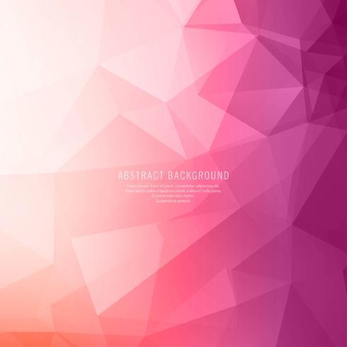 Vector de polígono brillante colorido abstracto