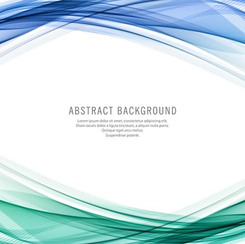 Abstract colorful business wave background vector