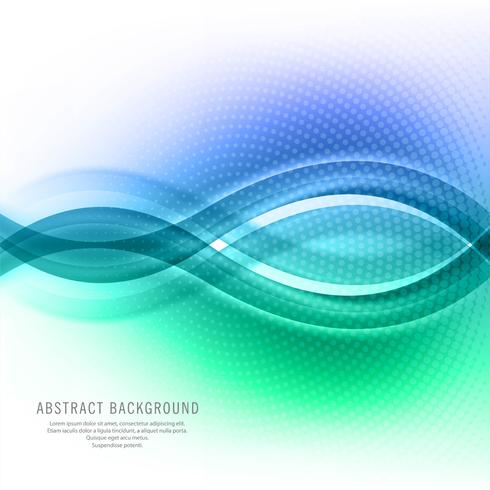 Abstract creative colorful business wave background