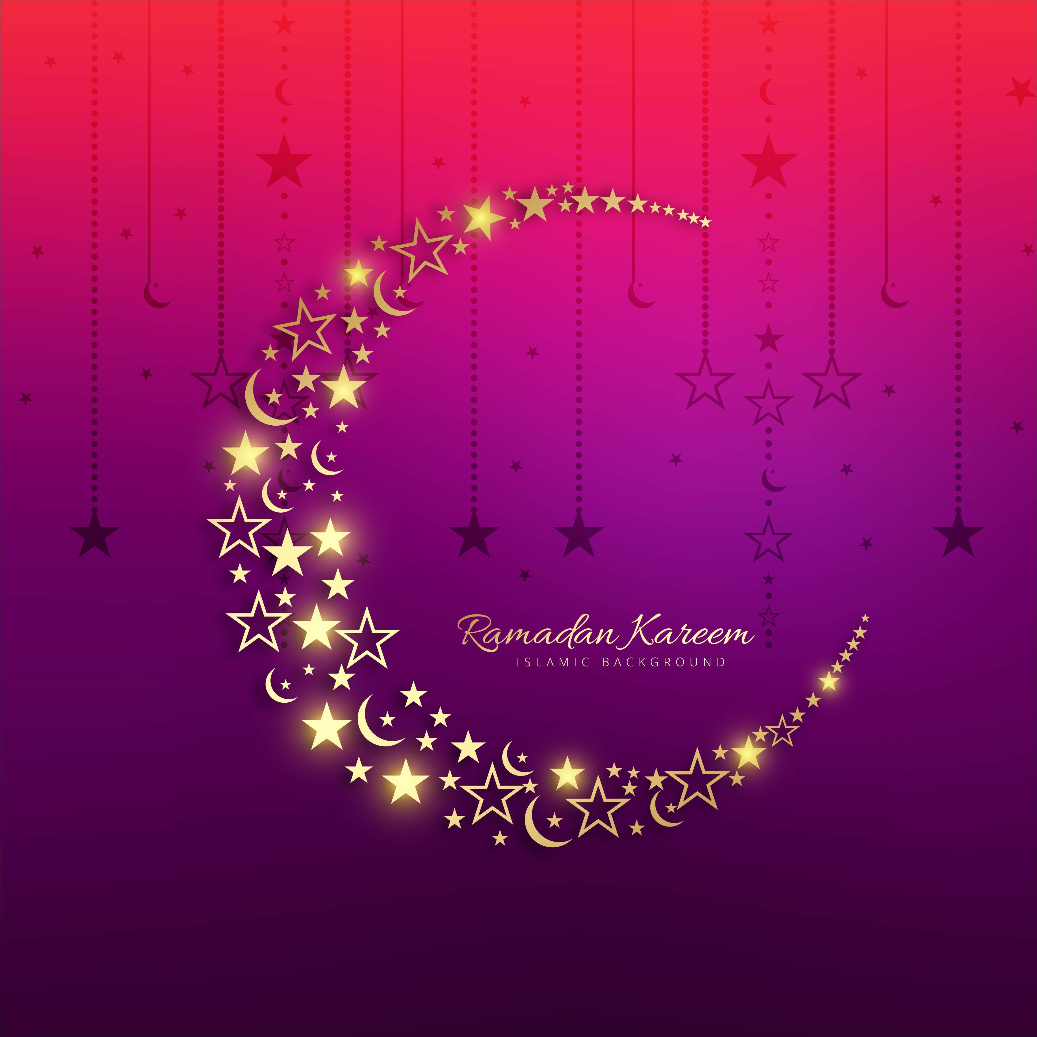 beautiful colorful ramadan kareem greeting card background