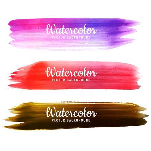 De moderne kleurrijke hand trekt het ontwerpreeks van de waterverfslag