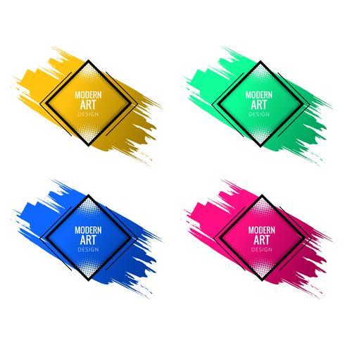 Moderne het ontwerp vastgestelde vector van de kunst kleurrijke waterverf