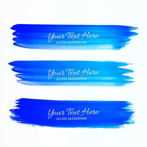 Hand drawn watercolor stroke blue shade vector