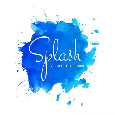 Moderne blauwe aquarel splash achtergrond