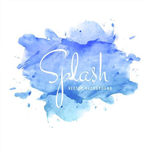 Belo design de respingo aquarela colorido azul