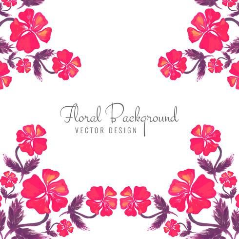 Modern decorative colorful floral background