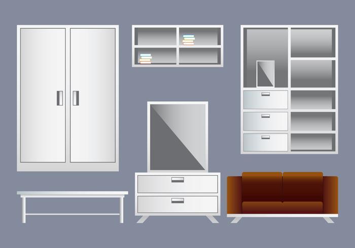 Elementos de diseño de interiores realistas