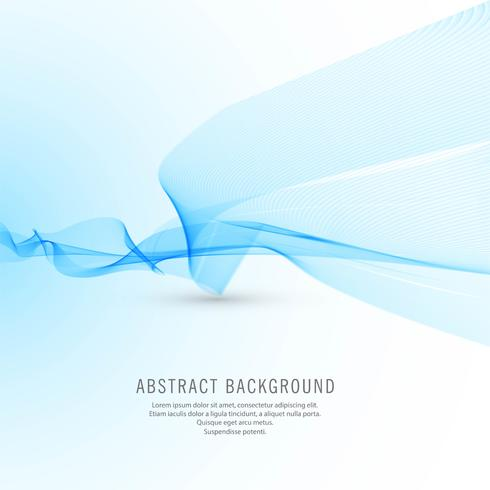 Abstract business blue wave background