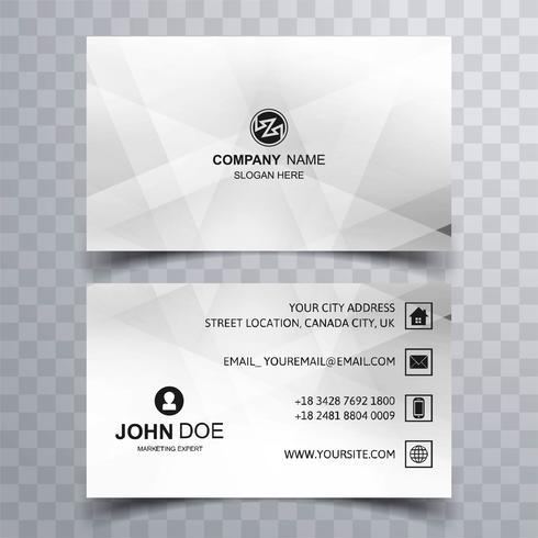 Modern geometric business card template design